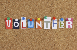 volunteer pin board