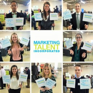 Graduating marketers at the Charlotte American Marketing Association Career Fair Share their career goals.